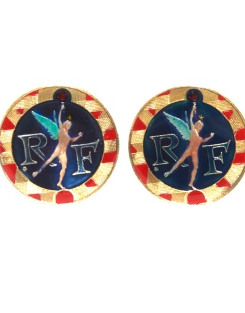 Coin Cufflinks - France