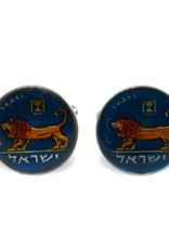 Coin Cufflinks - Israel