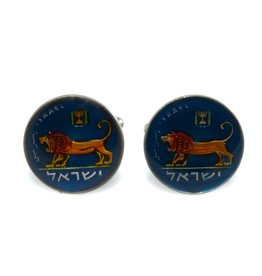 Coin Cufflinks - Israel