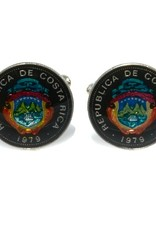 Coin Cufflinks - CostaRica