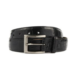 Black Matte Alligator Belt (35mm)