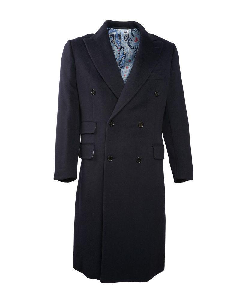 Navy Cashmere Coat