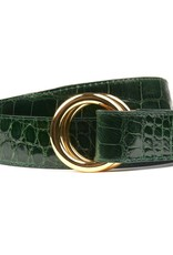 Green Alligator Belt