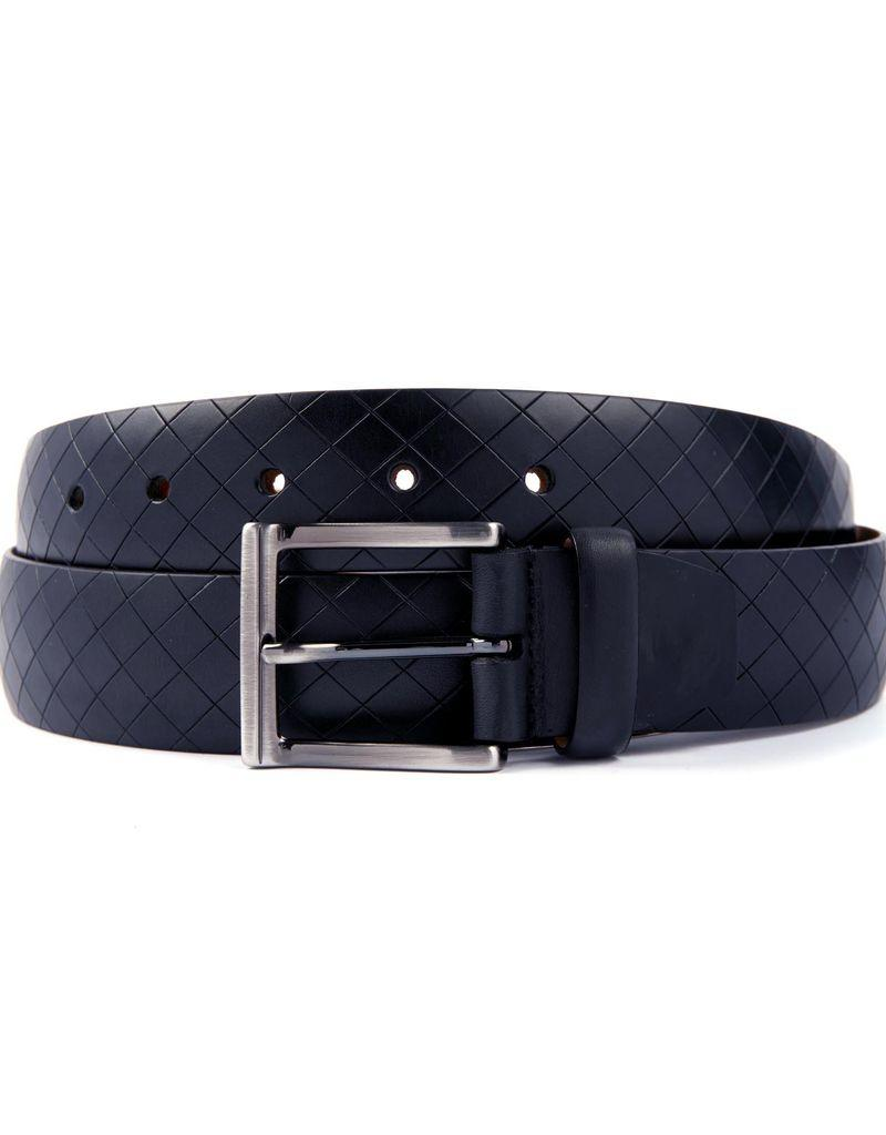 Leather Belt with diamond cut detailing