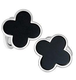 Sterling Silver Clover Cufflinks