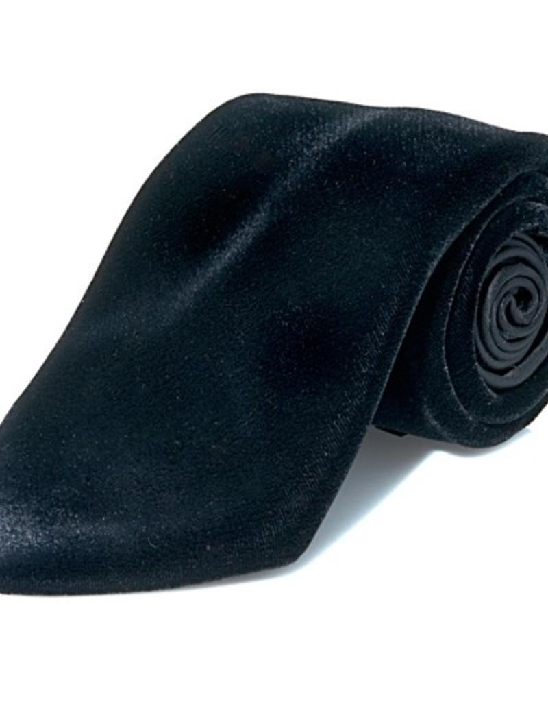 Black Silk Velvet Tie