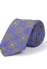 Medallion brocade Tie, Purple and Green