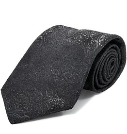 Black Tie with Black Lamé Paisley