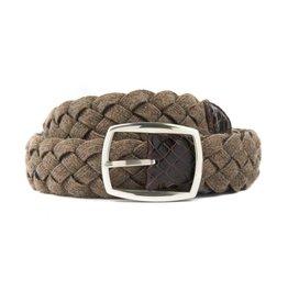 Brown & Tan Woven Wool Belt