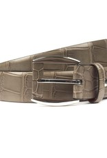 Alligator Belt with Leather Detail on Buckle