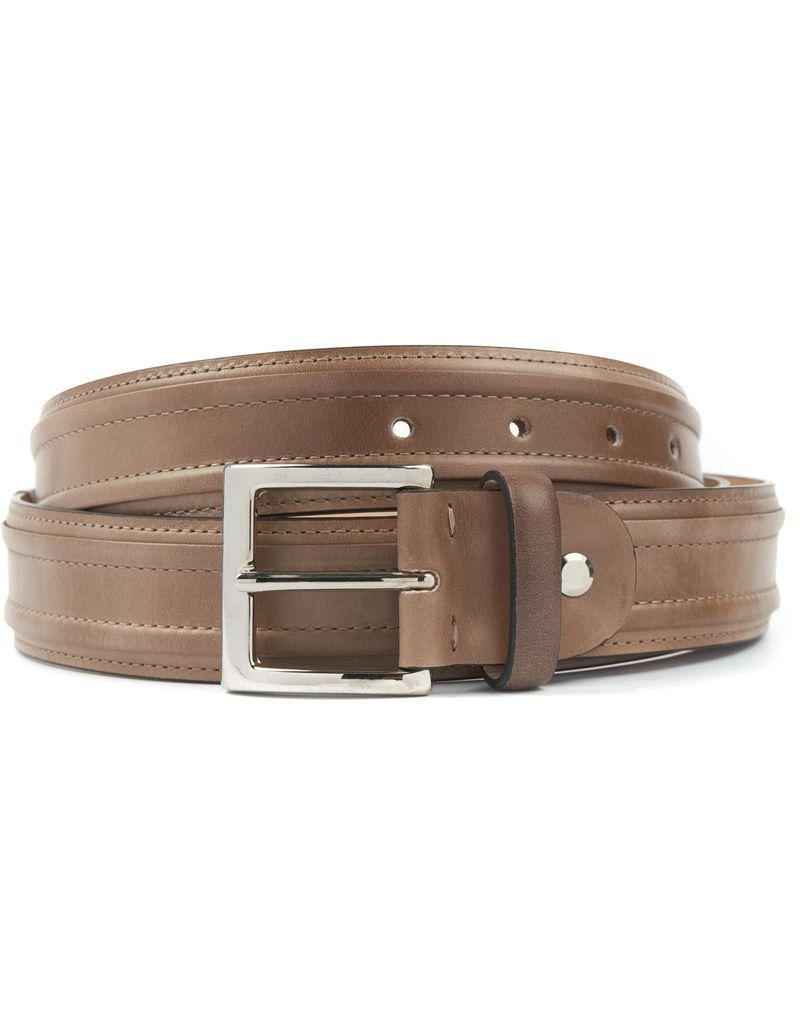 Leather Belt with Stitching Detail