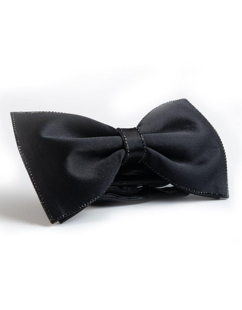 Black Bowtie with Black Swarovki Crystals