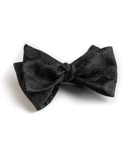 Medallion Jacquard Bow Tie, Black