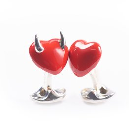 Naughty & Nice Hearts Cufflinks