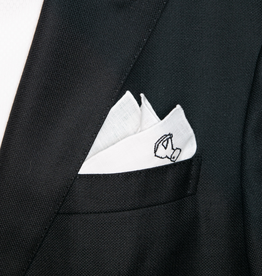 Linen pocket square with logo