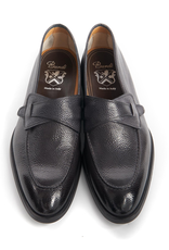Pebble grain Loafer with Rubber sole, Graphite