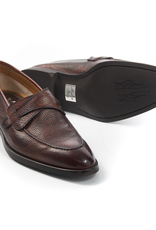 Pebble grain Loafer with Rubber sole, Marone