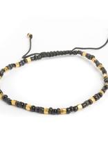 Black and gold bead bracelet