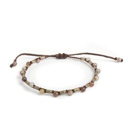 Agate & silver bracelet