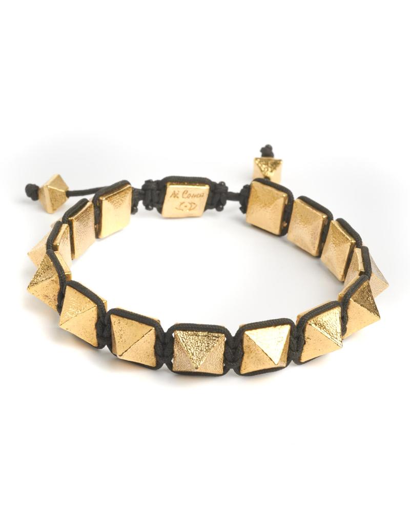 Gold Pyramid Spike Bracelet