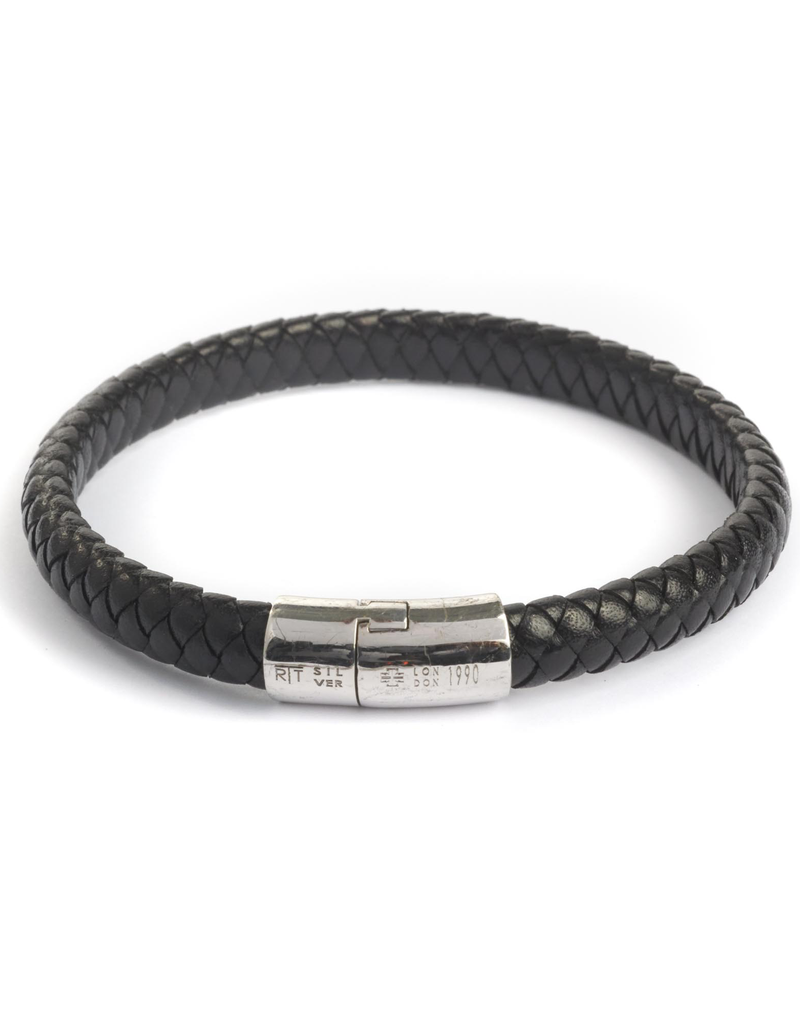 Braided leather Bracelet wih 925SS Clasp