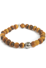 Sterling Sliver Ruthenium Matte Tiger Eye Bracelet