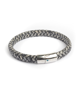 Sterling Silver Braided Leather Bracelet