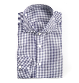 Handmade, Crinkled Gingham Cotton Shirt