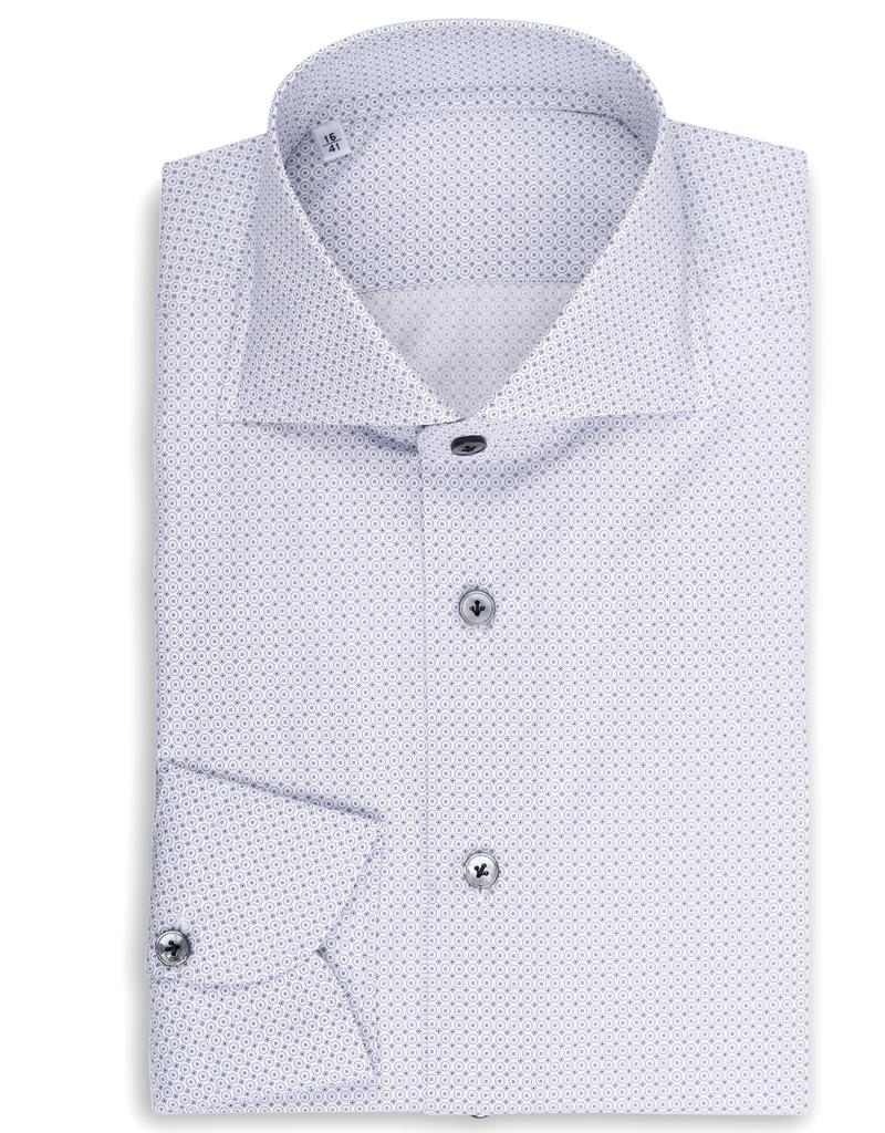 cbb4c4d669 Micro dot and circle, Printed Poplin Shirt
