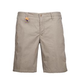 Striped Twill Shorts, Tan