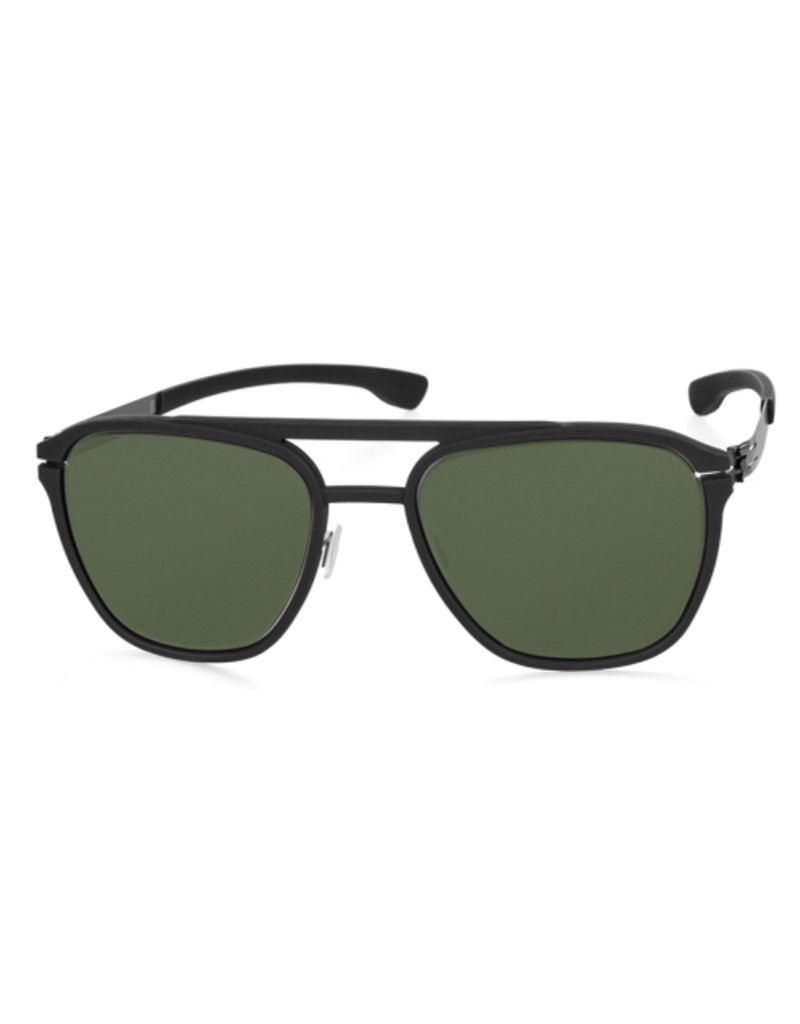 Sunglasses Layup :Black2 :Green Polarized :Rubber