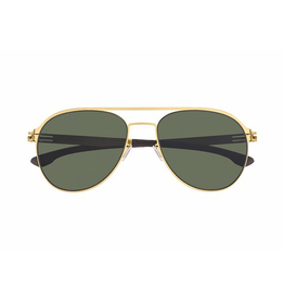 Sunglasses Attila L. :Matt Gold Green Polarized
