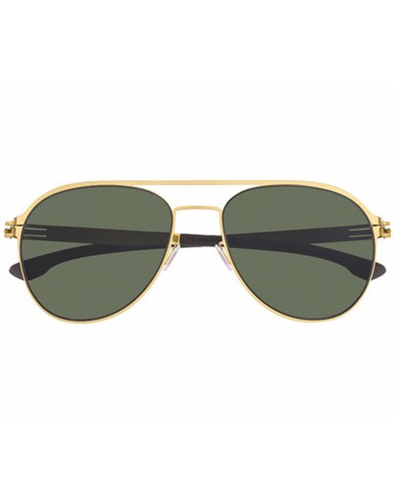 Attila: Matte Gold, Green Polarized Lens