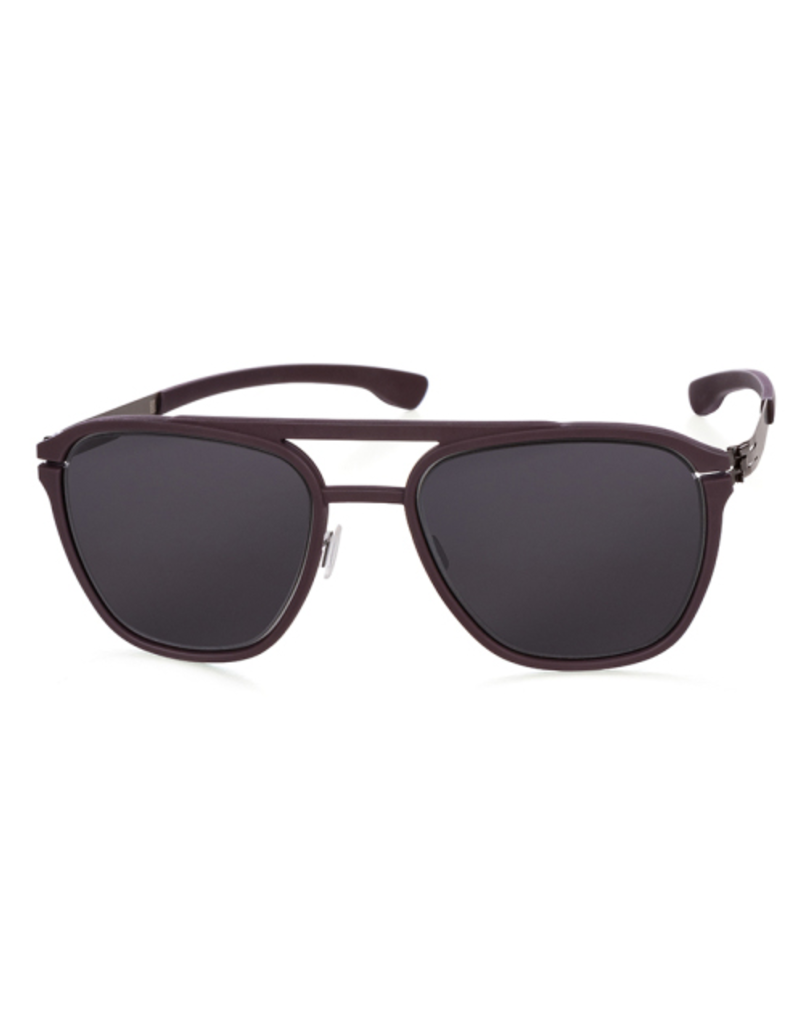 Sunglasses Layup :Graphite_Burgundy :Black :Rubber frame