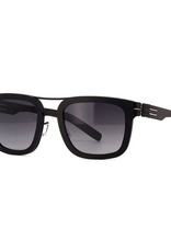 Lisanne: Black roughend acetate with a black to gray gradient lens