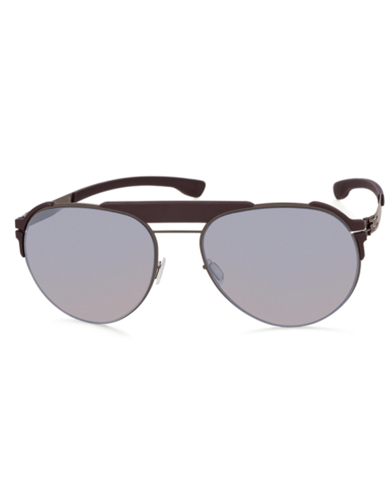 Fadeaway: Graphite Burgundy with Quicksilver lens