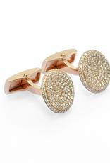 Round crystal pave cufflinks