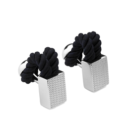 Rope Wrap Black Cufflinks