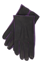 Leather Gloves, Contrast Side Walls & Cashmere Lining