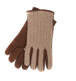 Suede Palms with Knitted Back