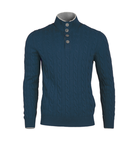 Cable Knit Sweater - Teal