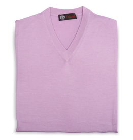 Cashmere / Silk V Neck Sweater, Lavender