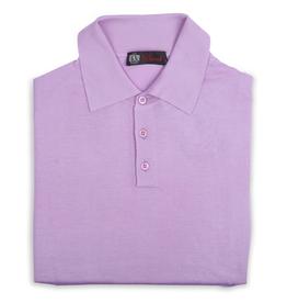 Cashmere / Silk Polo Sweater, Lavender
