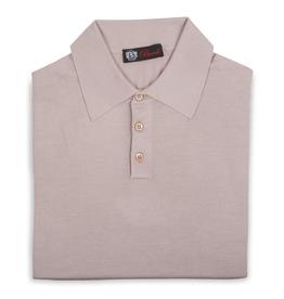 Cashmere / Silk Polo Sweater, Beige