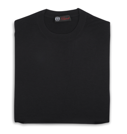 Cashmere / Silk Crew Neck Sweater, Black