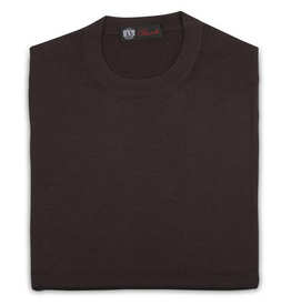 Cashmere / Silk Crew Neck Sweater, Brown