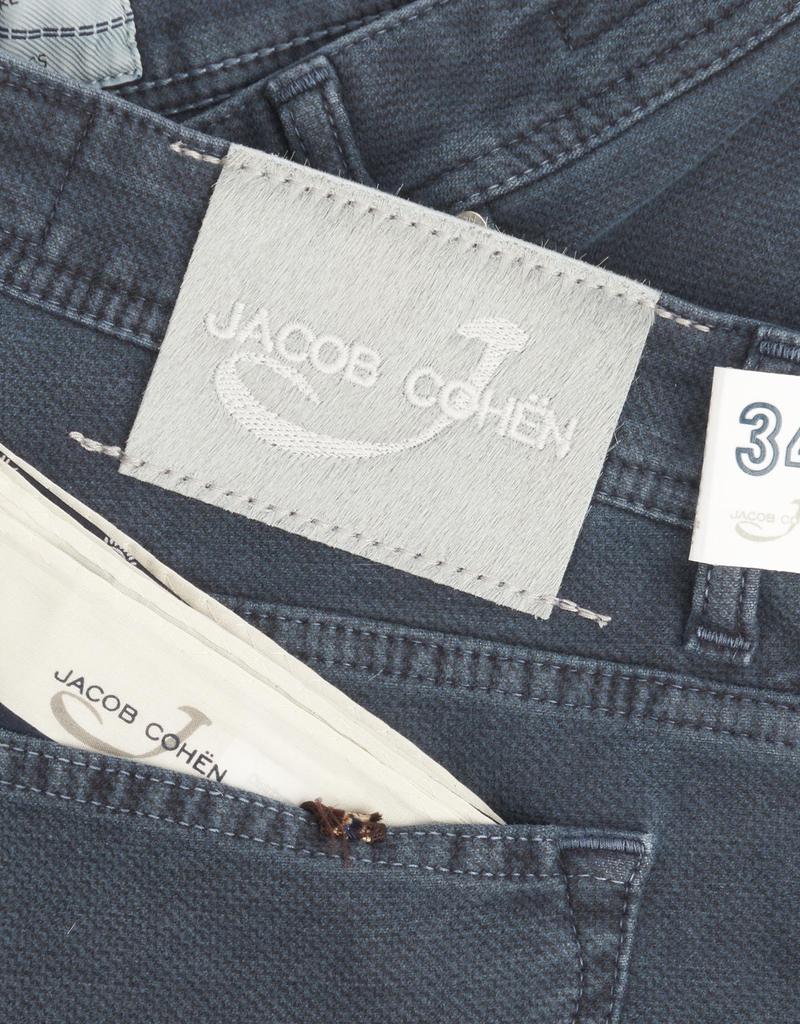Jacob Cohen Velour Five-pocket Pants, Steel Blue