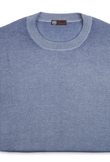 ashmere/Silk Crew Neck, Lt Blue