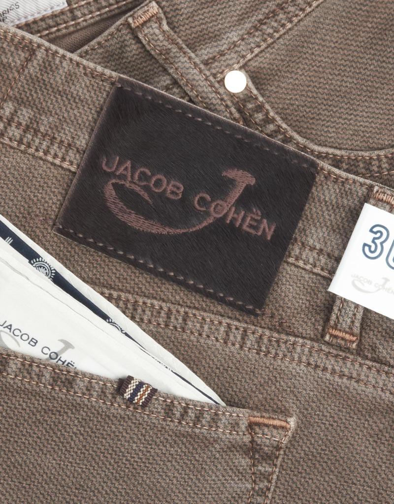 Jacob Cohen Velour Five-pocket Pants, Tan