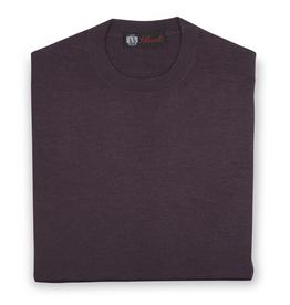 Cashmere / Silk Crew Neck Sweater, Berry